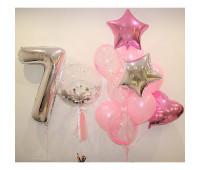 Набор шариков на день рождения девочки