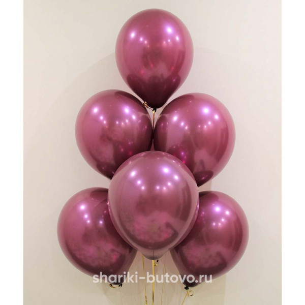 Гелиевые шары (бургундия)