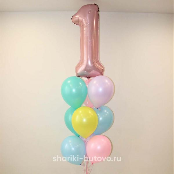Фонтан из шариков на годовасие