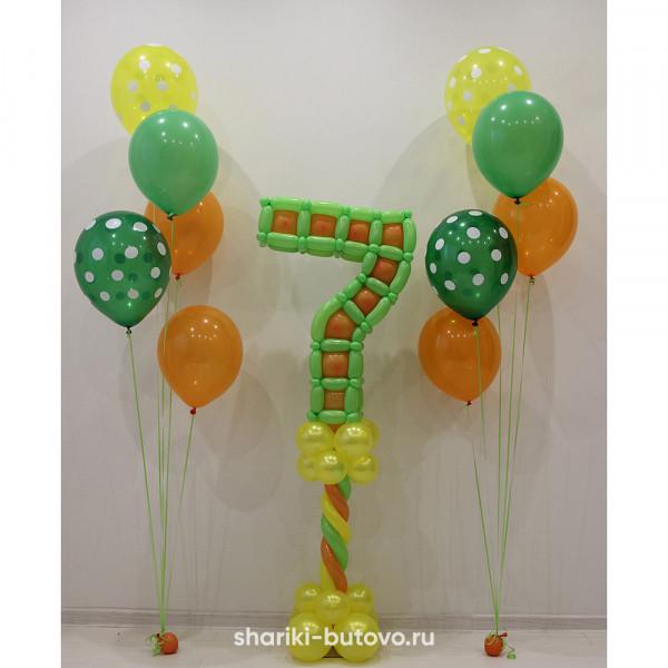 Композиция из шаров на День Рождения
