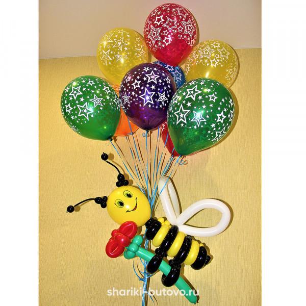 Пчелка из воздушных шариков