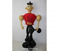 Спортсмен из воздушных шариков