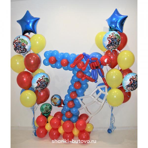 Композиция на день рождения (Человек-паук)