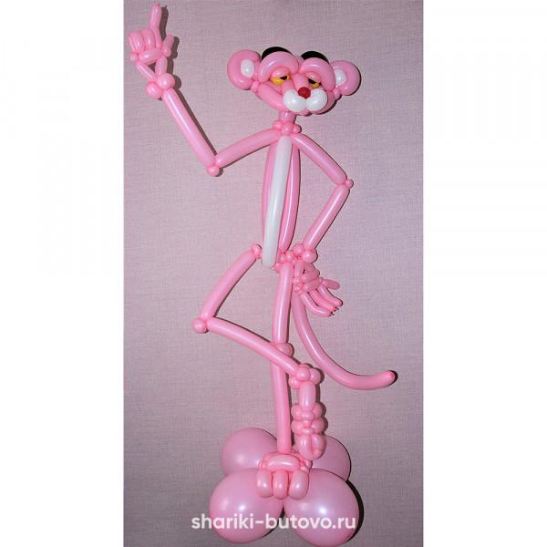 Розовая пантера из воздушных шариков