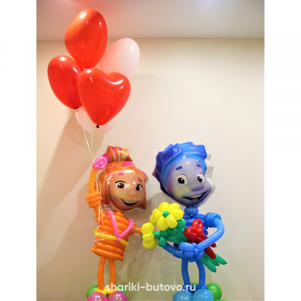 Фиксики из воздушных шариков