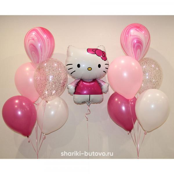 Набор из шариков с агатами и конфетти (Hello Kitty)