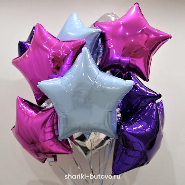 Фольгированный воздушный шар (Звезда, цвета в ассортименте)