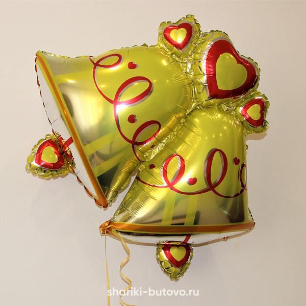 Фольгированный воздушный шар (колокольчики)