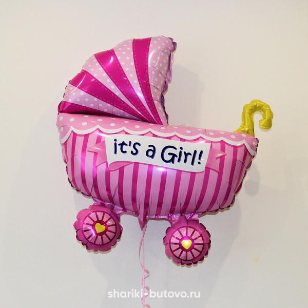Фольгированный воздушный шар (коляска)