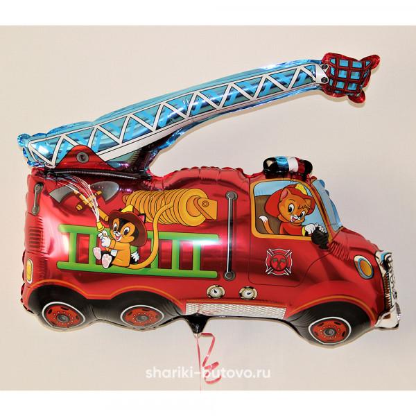 Фольгированный воздушный шар (пожарная машина)