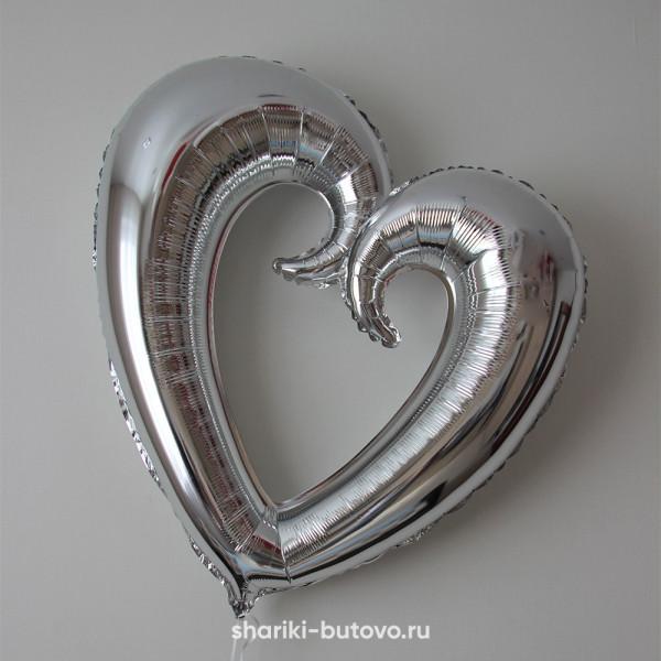 Фольгированный воздушный шар (фигурное сердце)