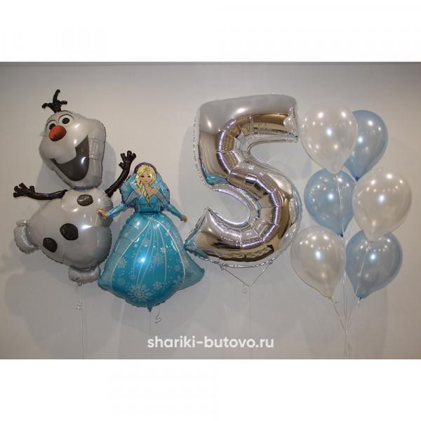 Композиция из шариков на День Рождения (Холодное сердце)