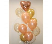 Фонтан из шариков (розовое золото)