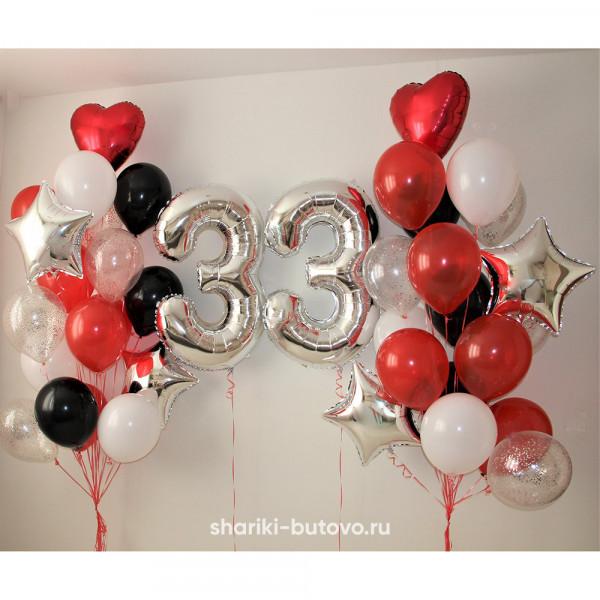 Фонтаны из шариков с цифрами