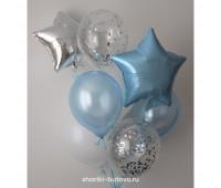 Гелиевые шары (с конфетти и звездами)