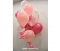 Фонтан из шариков (Розовая мечта)