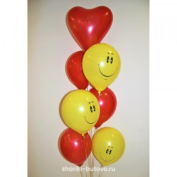 Фонтан из шариков Смайлики