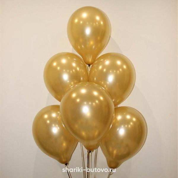 Гелиевые шары (золотой)