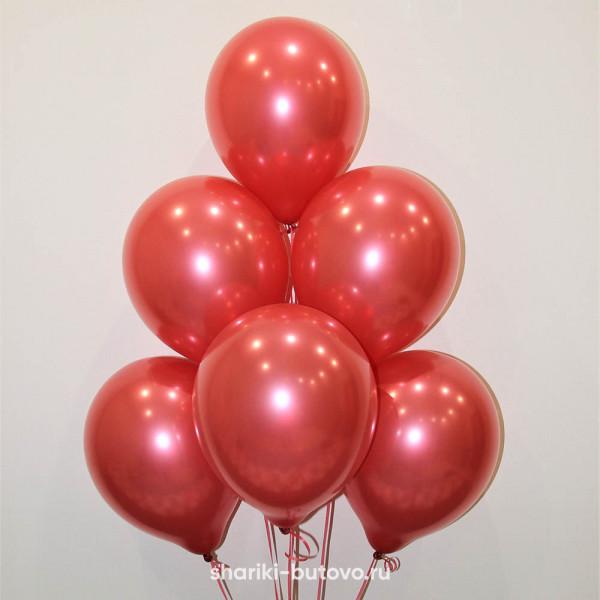 Гелиевые шары (красный, металл)