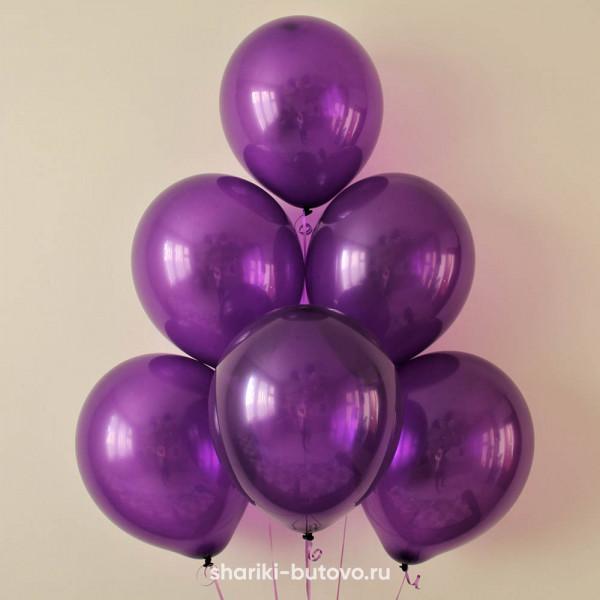 Гелиевые шары (фиолетовый, металл)