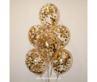 Гелиевые шары (золотое конфетти)