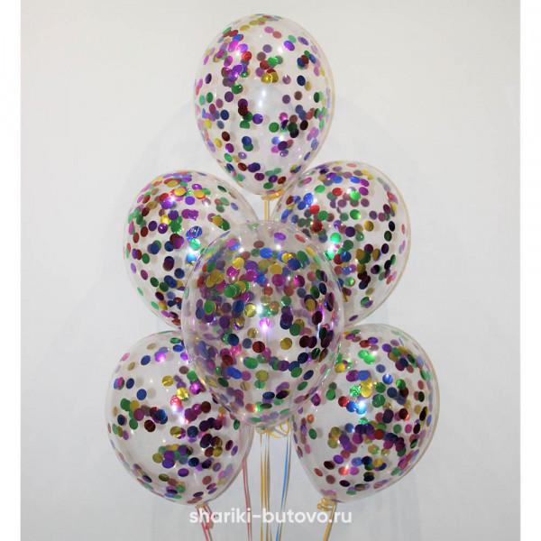 Гелиевые шары (разноцветное конфетти)