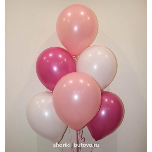 Гелиевые шары (белый, розовый, фуксия, пастель)