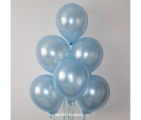 Гелиевые шары (голубой металл)
