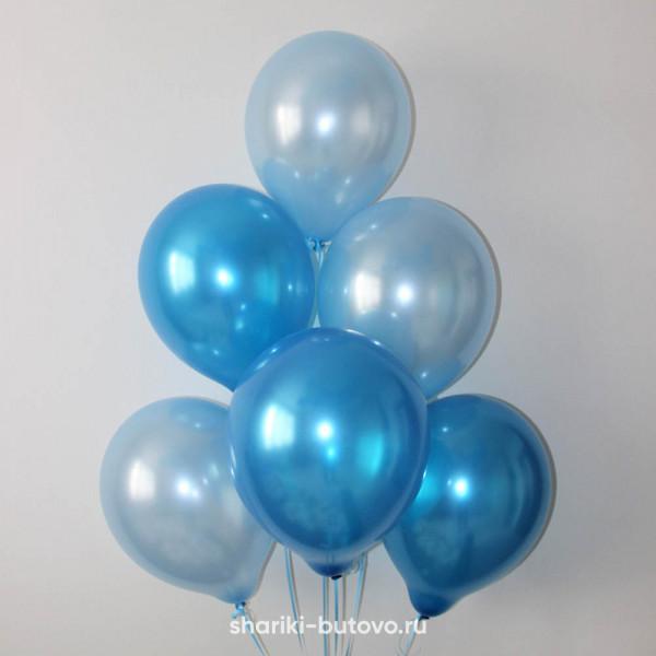 Гелиевые шары (синий и голубой, металл)