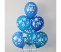 Гелиевые шары (снежинки)