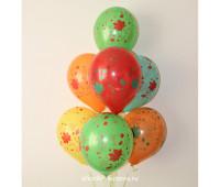 Гелиевые шары (кленовый лист)