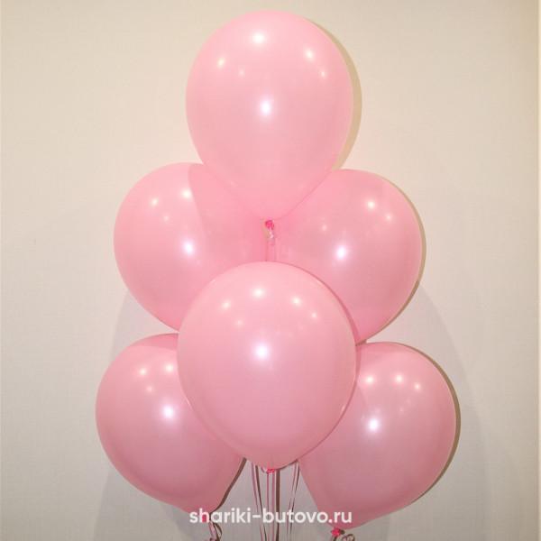 Гелиевые шары (розовый, пастель)