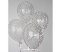 Гелиевые шары с пенопластовыми шариками