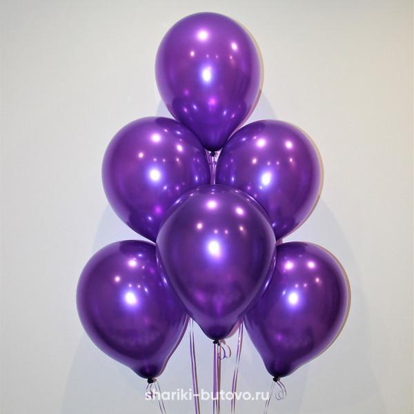 Гелиевые шары (фиолетовые, металл)