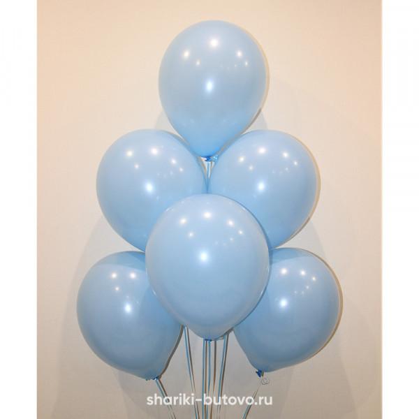 Гелиевые шары (голубой, пастель)