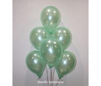 Гелиевые шары (лайт грин, металл)
