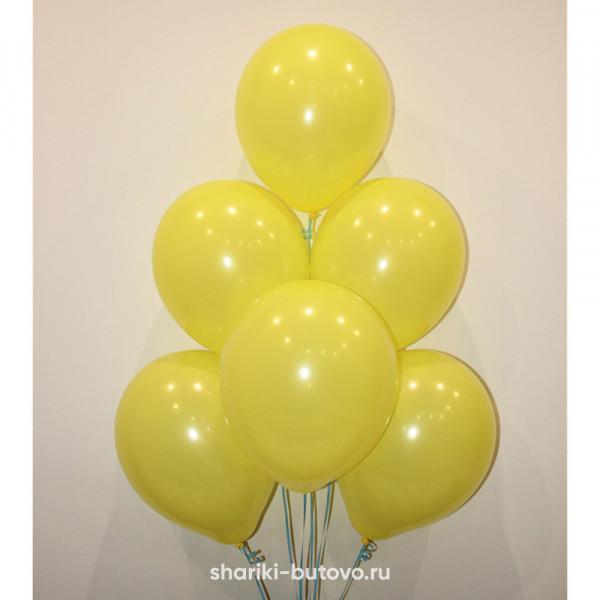 Гелиевые шары (желтый, пастель)