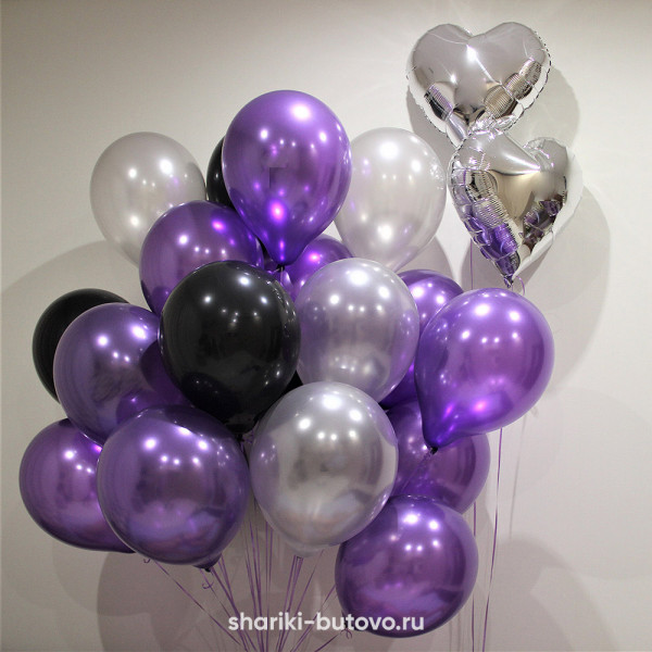 Гелиевые шары (микс, металл)
