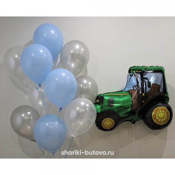 Облако шариков с трактором