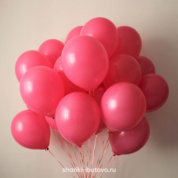 Гелиевые шары (фуксия, Пастель)