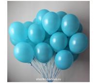 Гелиевый шар (голубой, пастель)