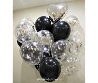 Букет из шариков с конфетти