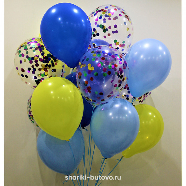 Гелиевые шары (микс)