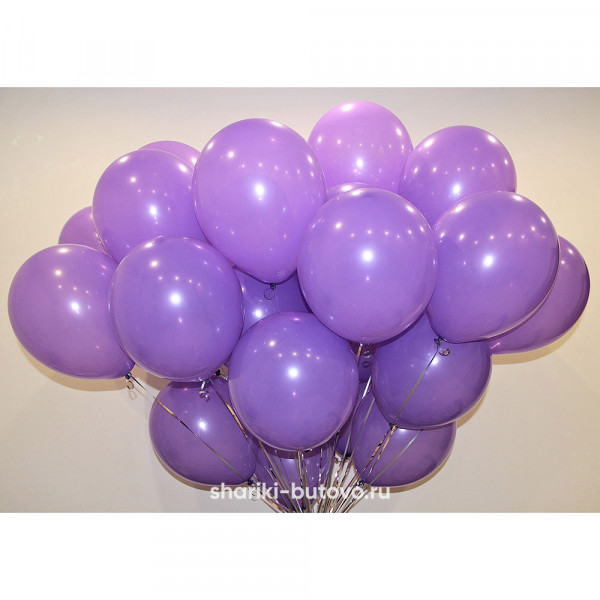 Гелиевые шары (сиреневый, пастель)