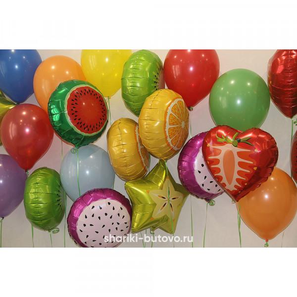 Фольгированные воздушные шары (фрукты)