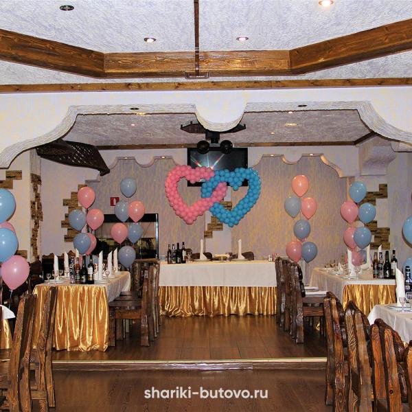 Оформление шариками на свадьбу