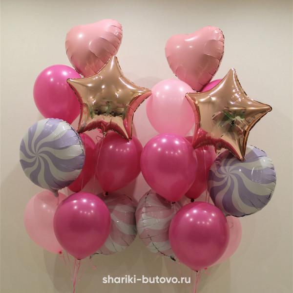 Фонтаны из шариков на День Рождения
