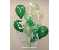 Фонтан из шариков с пружинками
