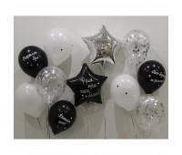Композиция из шариков на День Рождения (с индивидуальными надписями)