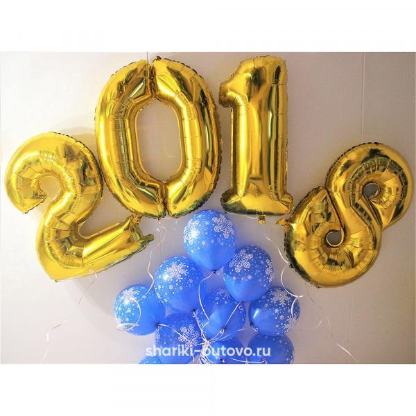 Композиция из шариков на Новый год
